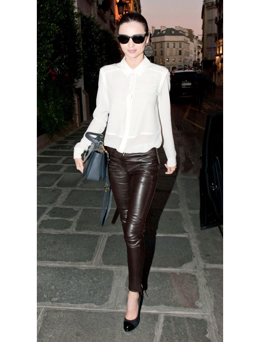lovely leather trousers outfit night out